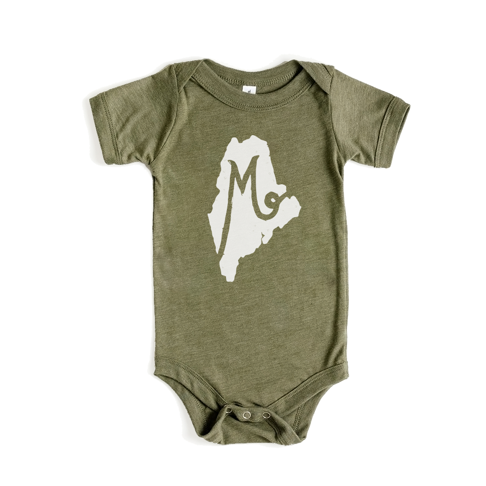 M is for Maine Forest - Baby Onesie