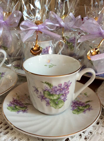 Making Tea Party Tea Cup Favors