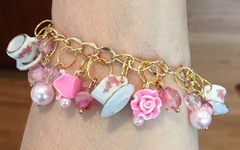 Roses and Tea Cups Bracelet