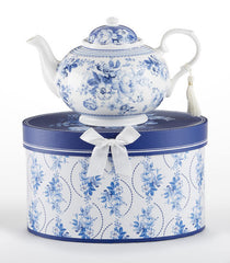 English Blue Teapot in Gift Box