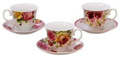 Assorted Rose Bulk Discount Tea Cups and Saucers