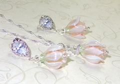Lampwork Beads Bridal Jewelry Set