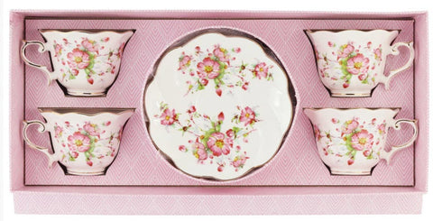 Charlotte Bloom Tea Cups and Saucers