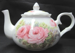 China Roses English Bone China Teapot