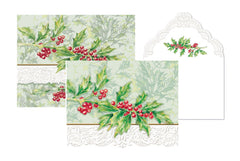 Carol Wilson Holly Berry Note Card Portfolio