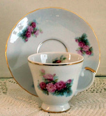Peony Porcelain Demitasse Cup and Saucer