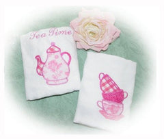 Embroidered Appliqueed Tea Towels