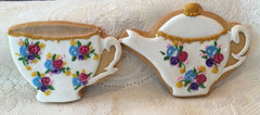 Extra Fancy Tea Cup and Teapot Cookies