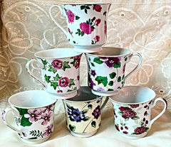 Assorted Chintz Bulk Discount Tea Cups