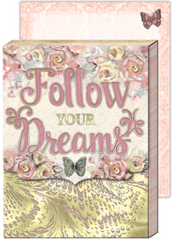 Follow Your Dreams Purse Pocket Notepad