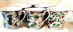 Fruit and Floral Chintz Bulk Discount Tea Cups
