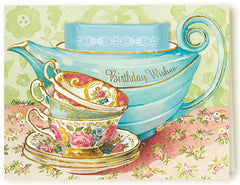Kimberly Shaw Tea Greeting Card with Tea