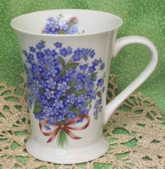 Blue Forget Me Not Latte Mug