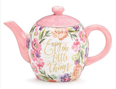 Enjoy the Little Things Teapot