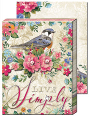 Live Simply Bird Purse Notepad