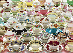 More Tea Cups Jigsaw Puzzle