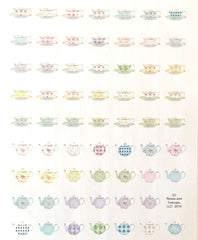 Pastel Tea Cup and Teapot Stickers
