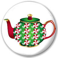 Holiday Tea Cup and Teapot Magnets