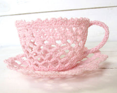Pink Lace Tea Cup Favor Cups