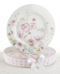 Poppyseed Porcelain Dessert Plates in Gift Box