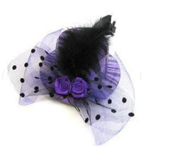 Purple Zebra Tea Party Favor Hat