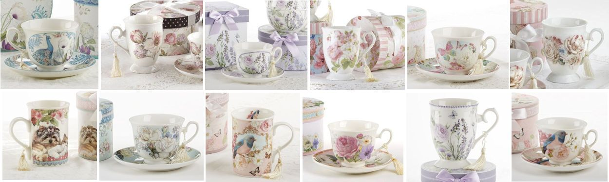 Gift Boxed Porcelain Tea Cups and Mugs