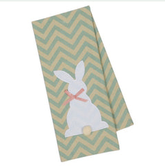 Bunny Dish Towels with Pom Pom Tail