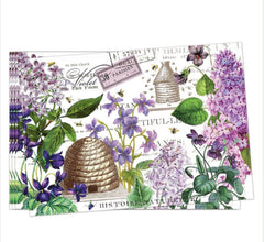 Lilacs and Violets Turkish Cotton Placemats