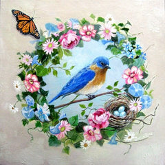 Susan Rios Mini Wall Hangings Bluebird of Happiness