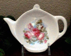 Elizabeth Rose Porcelain Tea Bag Caddy