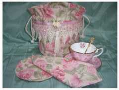 Tea Cup Carrier Reticule Purse