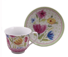 Tulips Bulk Discount Tea Cups and Saucers