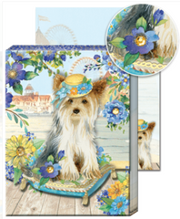 Yorkie Magnetic Purse Notepad