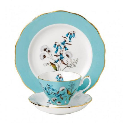 100 Years Of Royal Albert 1950 Festival 3-Piece Place Setting - Only 1 Set Available! - Roses And Teacups