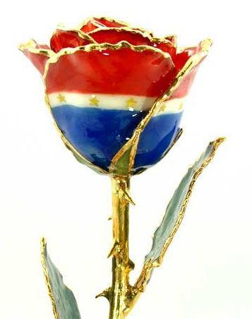 12-inch Lacquered And Edged in 24K Gold - Patriot-Roses And Teacups