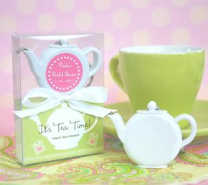 12 Teapot Tape Measure Bridal Wedding Favors-Roses And Teacups