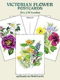 24 Victorian Flower Postcards - Very Limited - Only 3 Available!-Roses And Teacups