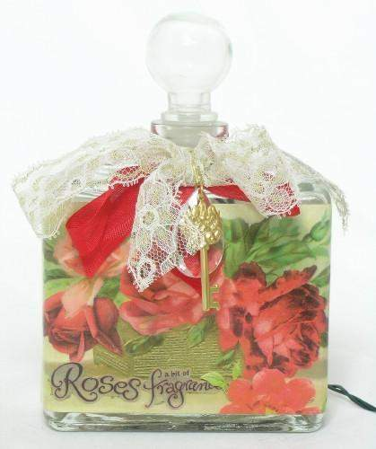 A Bit of Rose Fragrance Perfume Bottle Nightlight ( Night Light )-Roses And Teacups