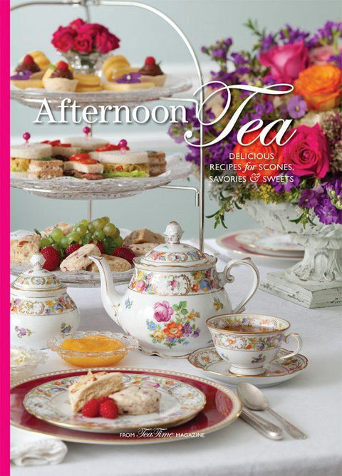 Afternoon Tea Tips Recipes and Ideas Hardcover Tea Book - Roses And Teacups
