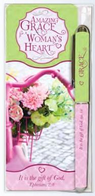 Amazing Grace Pen and Bookmark Gift Set - Roses And Teacups