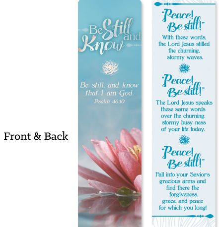 Be Still And Know Christian Bookmark Pen Favor Gift Set - Roses And Teacups