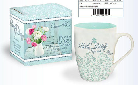 Bless the Lord Mug in Gift Box - Roses And Teacups