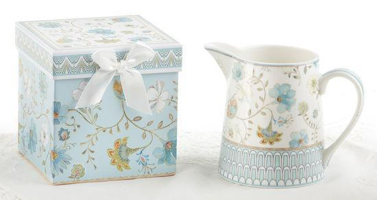 Blue Romance Gift Boxed Pitcher - Roses And Teacups