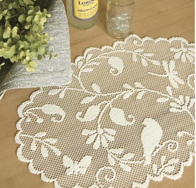 Bristol Garden Lace Doily-Roses And Teacups