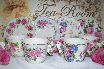 Butterfly Handle Demi Porcelain Teacups & Saucers - Perfect For the Little Lady in Your Life - Rare Only 1 Left! - Roses And Teacups