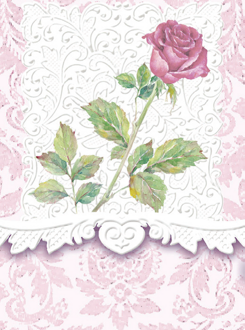 Carol Wilson Rose Stem Mini Purse Notepad - Available for Shipping in October - Roses And Teacups
