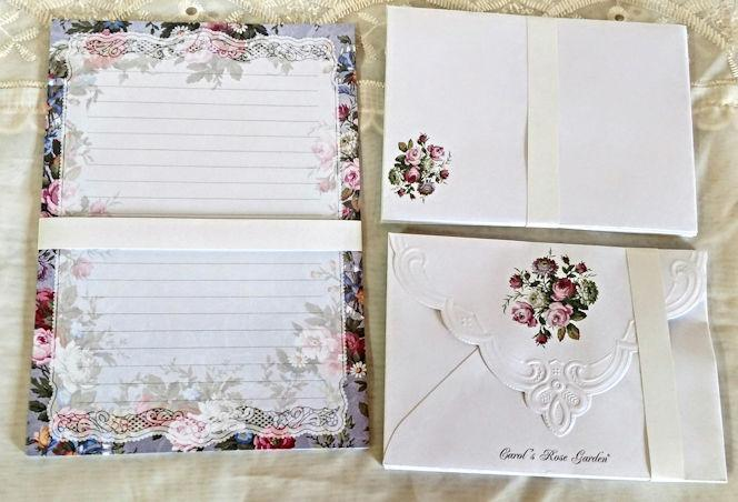 Carol Wilson Writing Set Floral - Only 2 Available!-Roses And Teacups