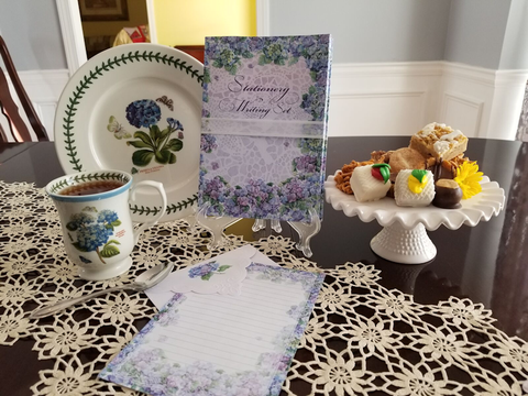 Carol Wilson Writing Set Hydrangea - Only 3 Available! - Roses And Teacups
