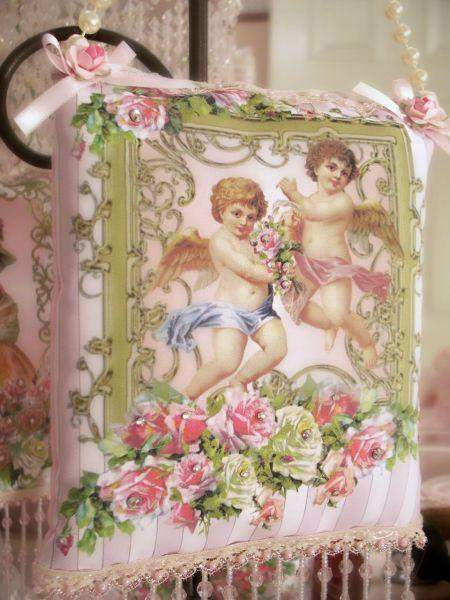 Cherubs Crystal Roses Sachets - Roses And Teacups