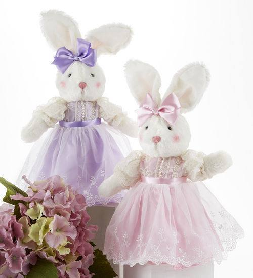Easter Bunny in Pink or Purple Perfect for Baskets! Limited! - Roses And Teacups